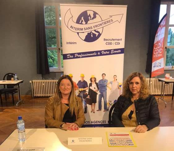 Intérim Sans frontières au forum de l'emploi intérim à Sarreguemines